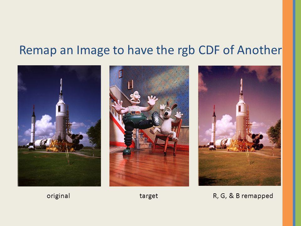 Remap an Image to have the rgb CDF of Another