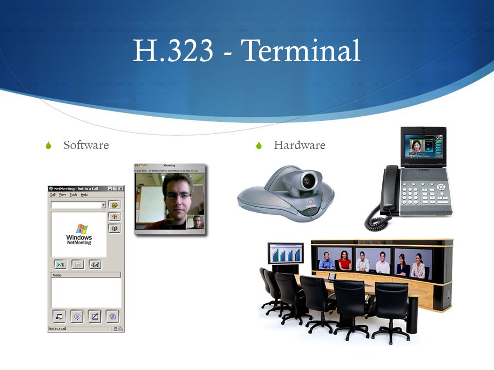 H.323 - Terminal Software Hardware
