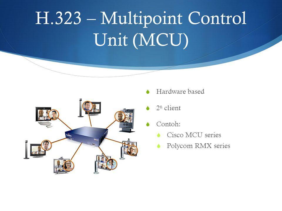 H.323 – Multipoint Control Unit (MCU)