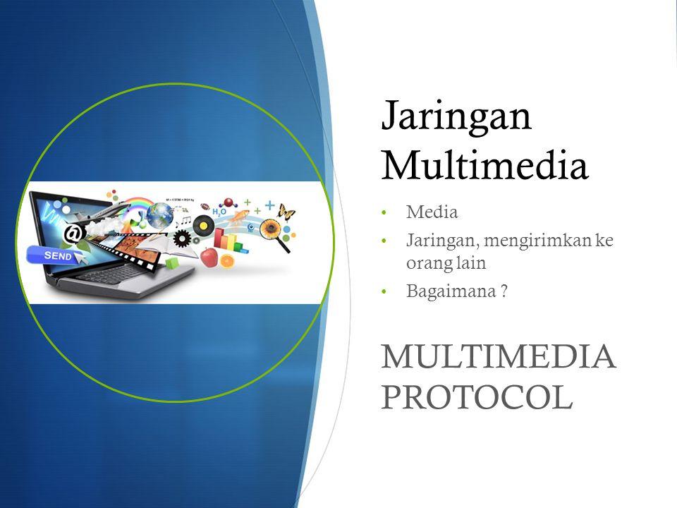 Jaringan Multimedia MULTIMEDIA PROTOCOL Media