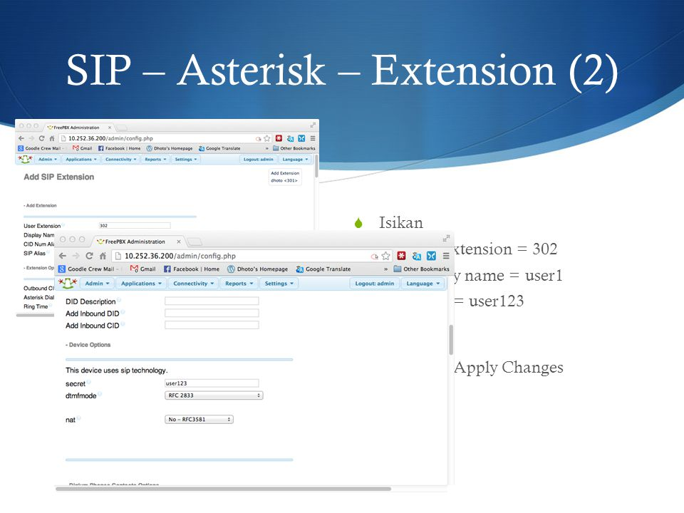 SIP – Asterisk – Extension (2)