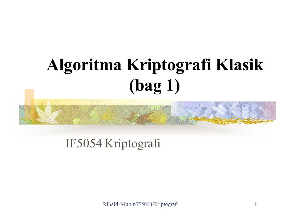 Algoritma Kriptografi Klasik (bag 1)