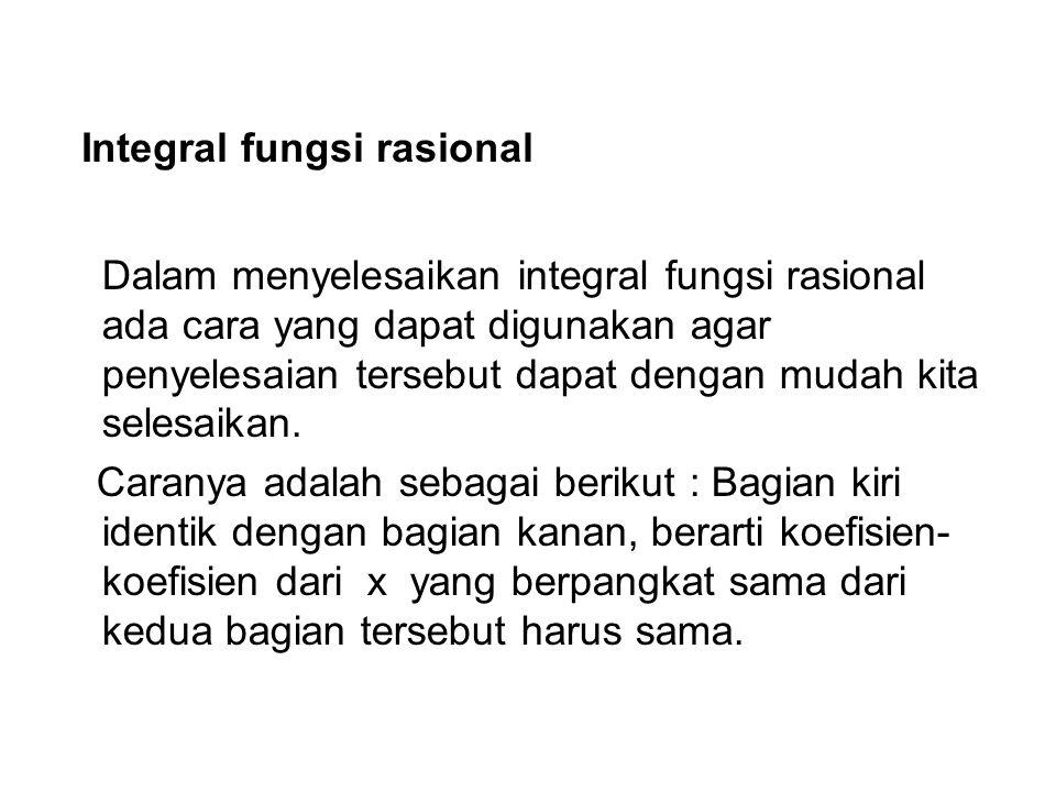 Integral fungsi rasional
