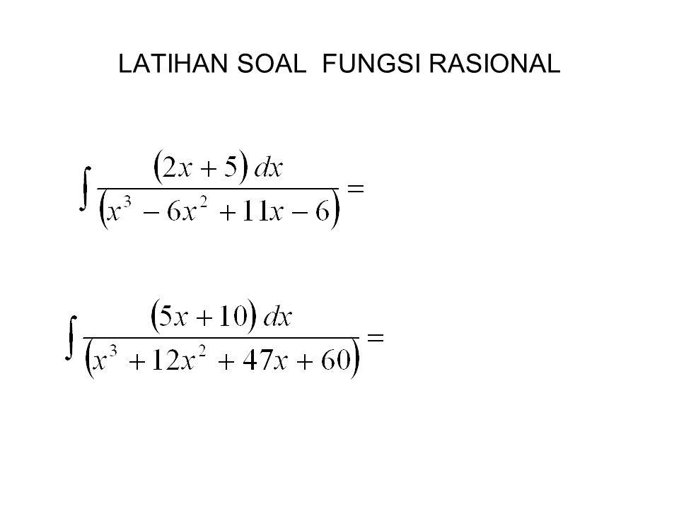 LATIHAN SOAL FUNGSI RASIONAL