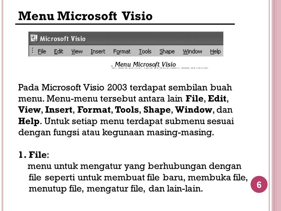 Menu Microsoft Visio