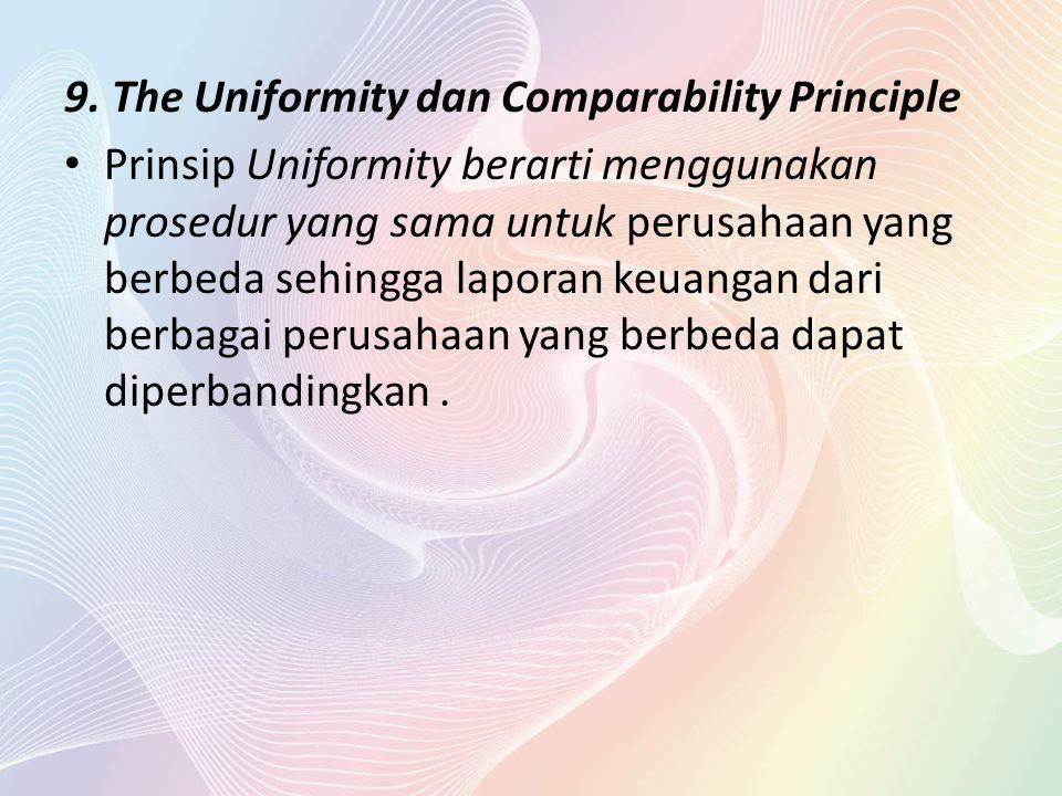 9. The Uniformity dan Comparability Principle