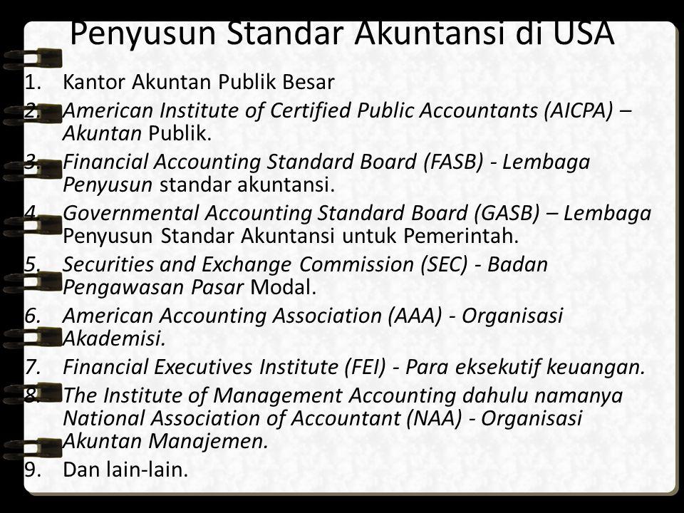 Penyusun Standar Akuntansi di USA