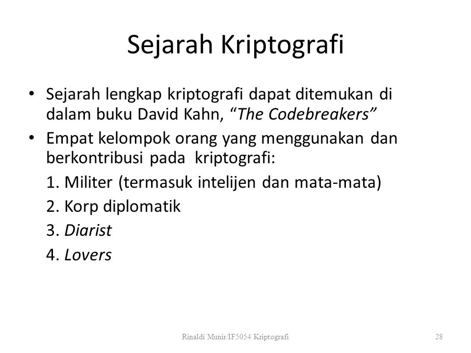 Rinaldi Munir/IF5054 Kriptografi