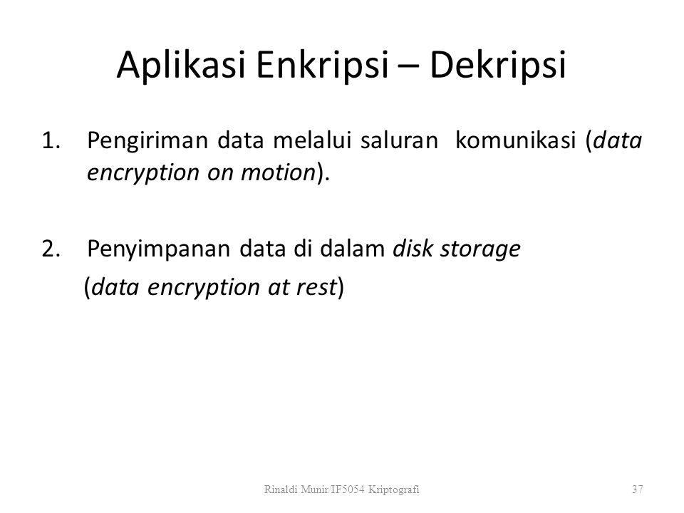 Aplikasi Enkripsi – Dekripsi