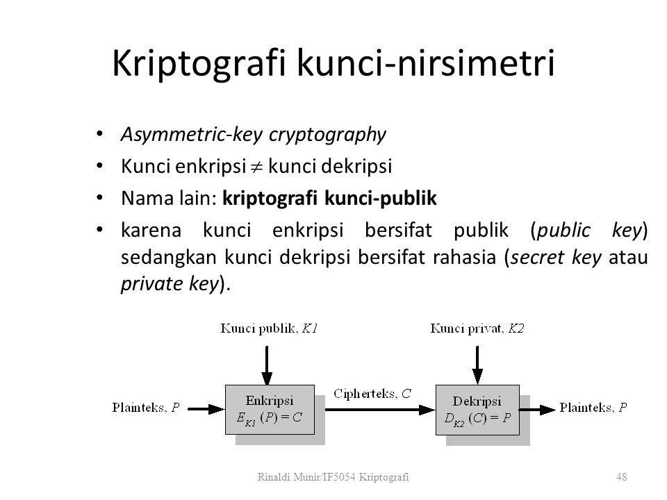 Kriptografi kunci-nirsimetri