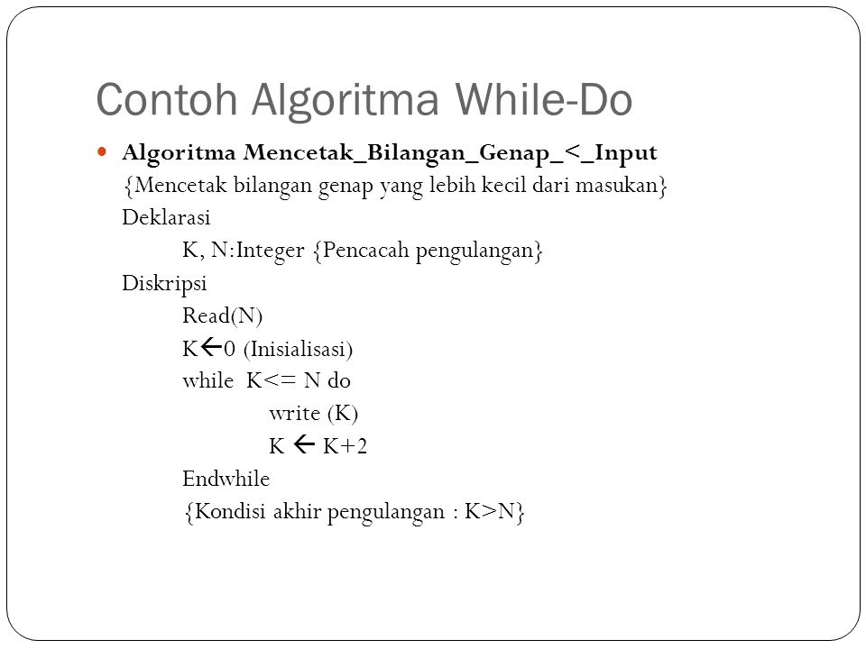 Contoh Algoritma While-Do