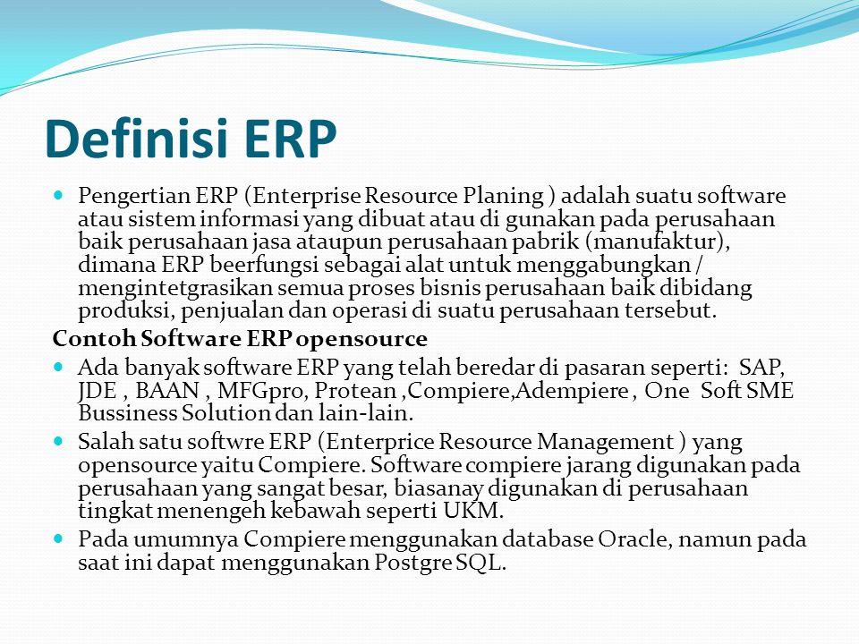 Definisi ERP