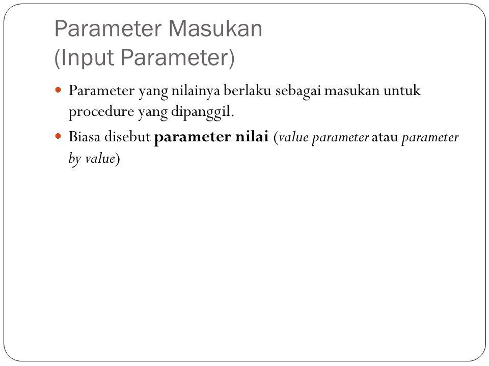 Parameter Masukan (Input Parameter)