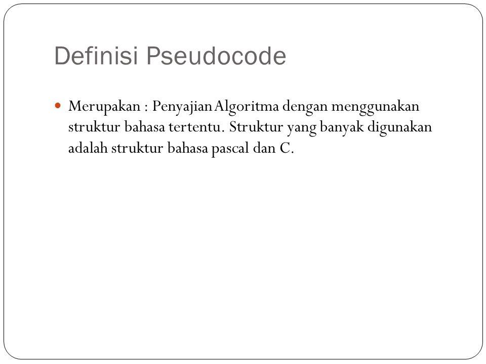 Definisi Pseudocode