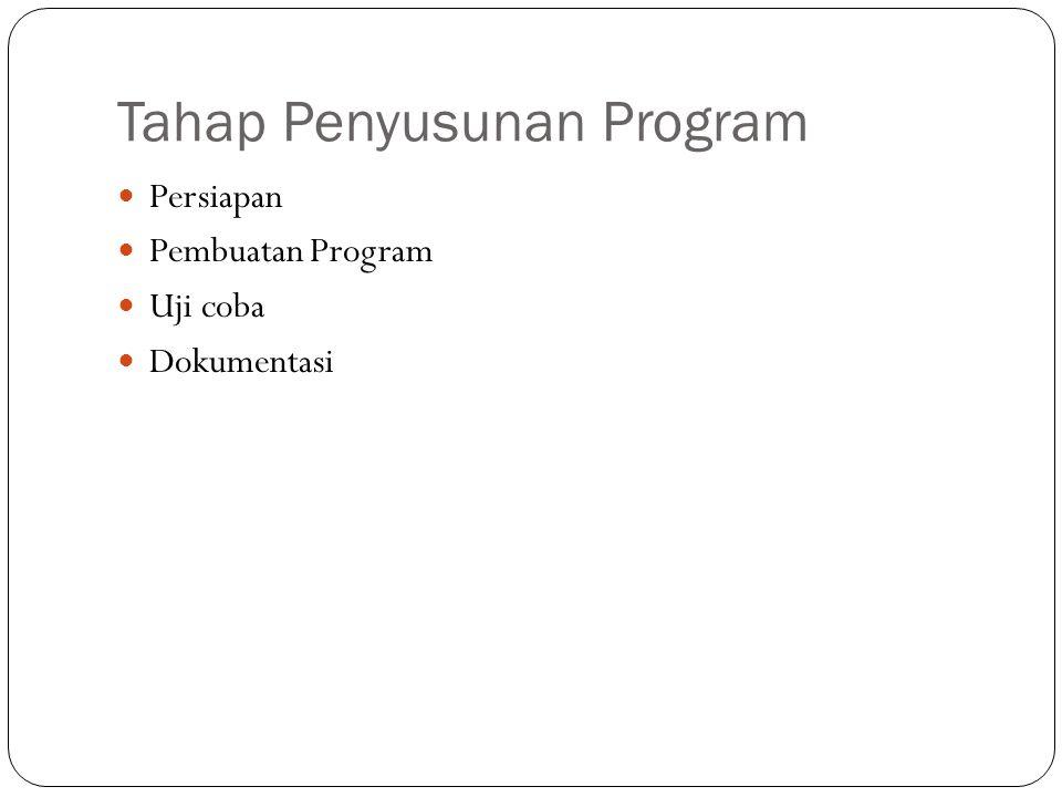 Tahap Penyusunan Program