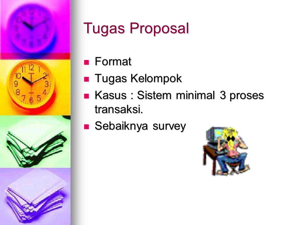 Tugas Proposal Format Tugas Kelompok