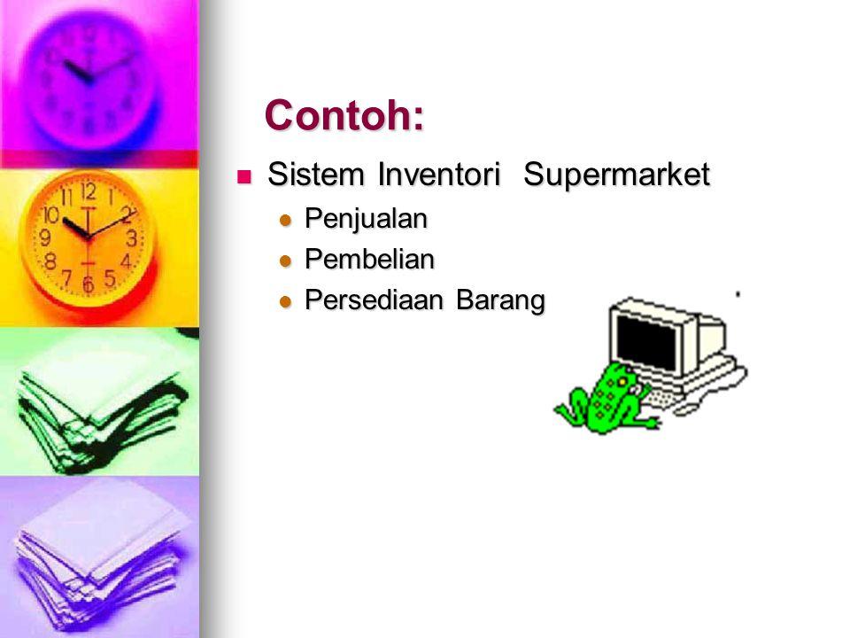 Contoh: Sistem Inventori Supermarket Penjualan Pembelian