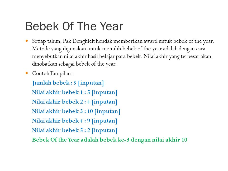Bebek Of The Year