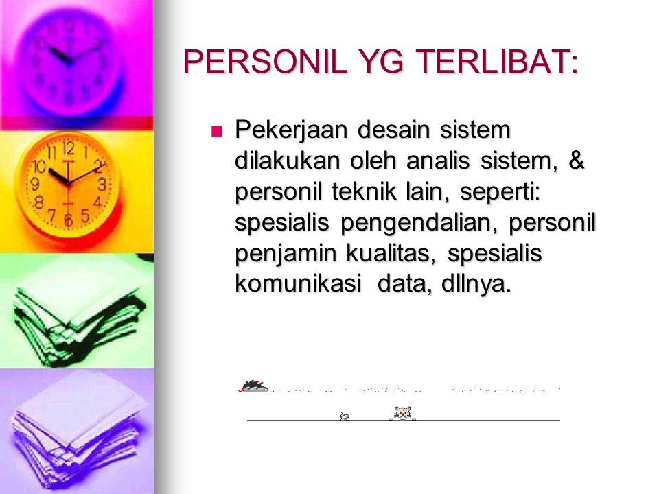 PERSONIL YG TERLIBAT: