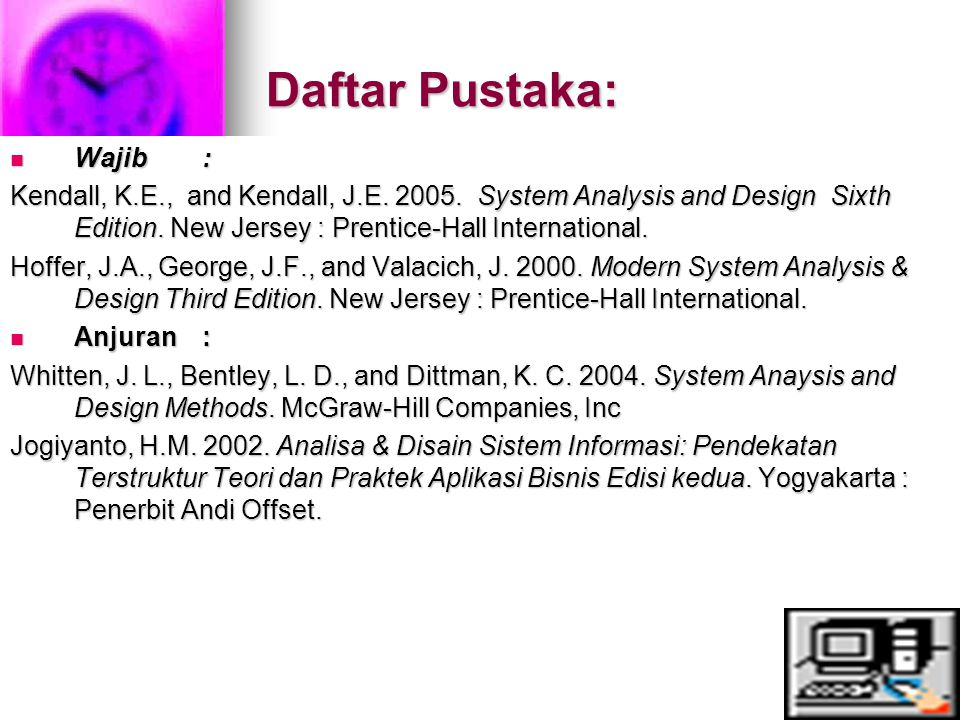 Daftar Pustaka: Wajib :