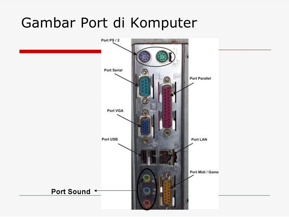 Gambar Port di Komputer