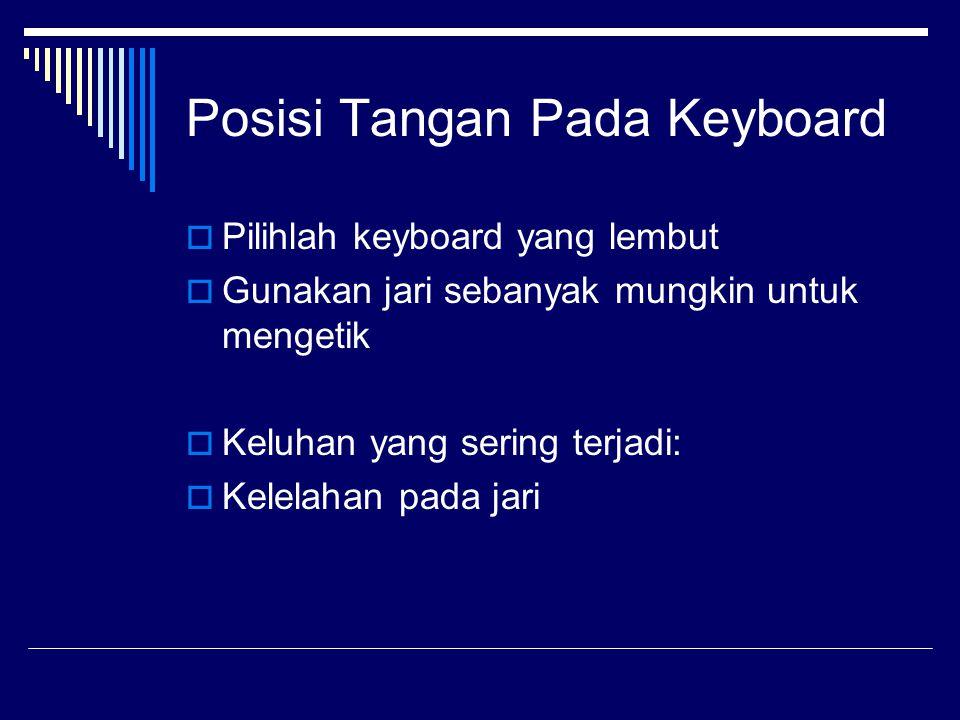 Posisi Tangan Pada Keyboard