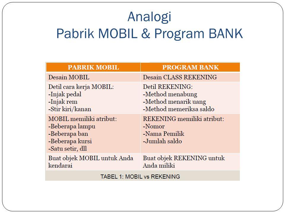 Analogi Pabrik MOBIL & Program BANK