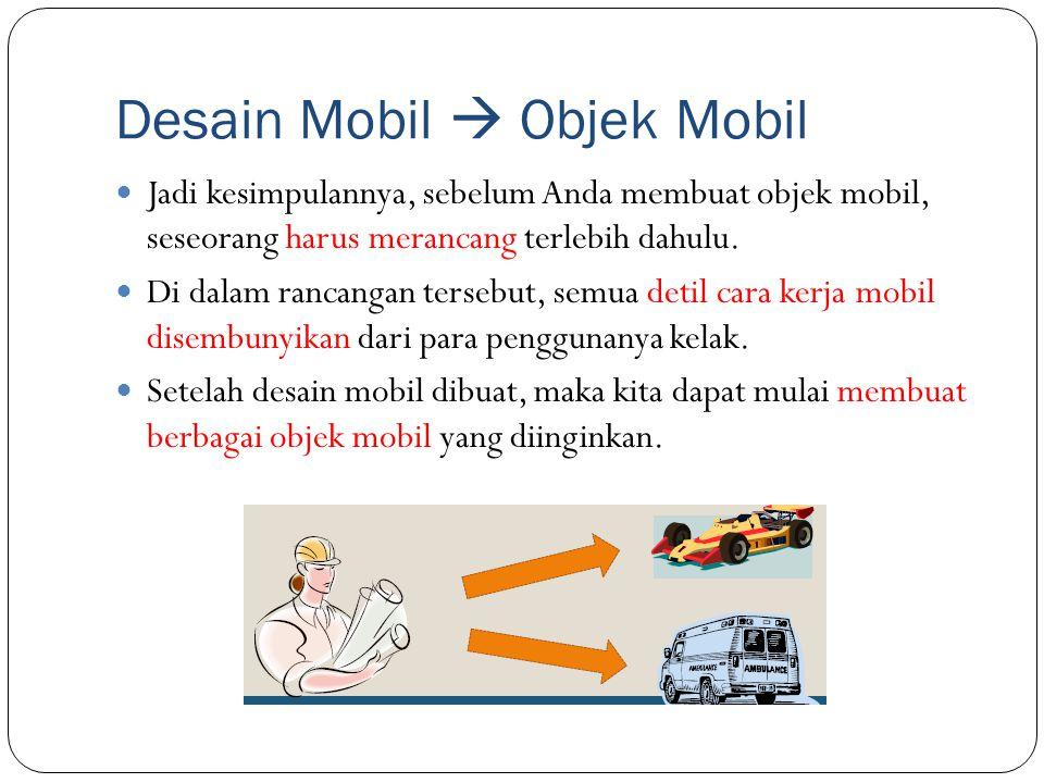 Desain Mobil  Objek Mobil