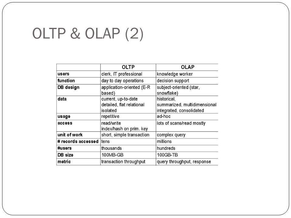 OLTP & OLAP (2)