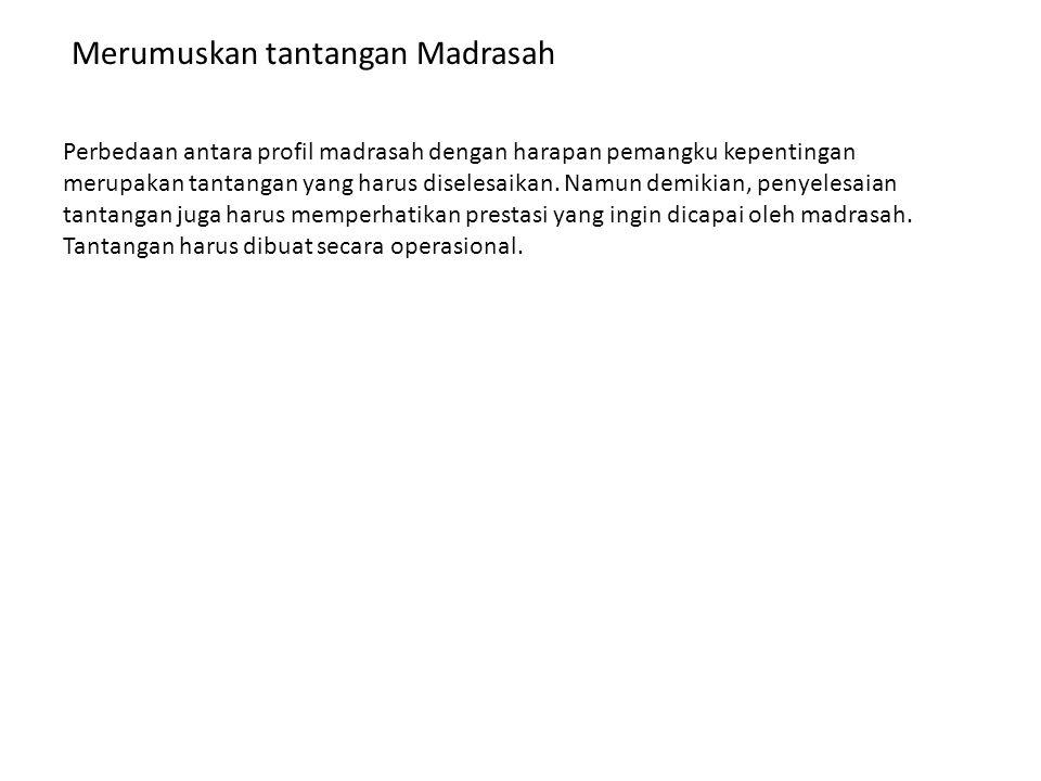 Merumuskan tantangan Madrasah
