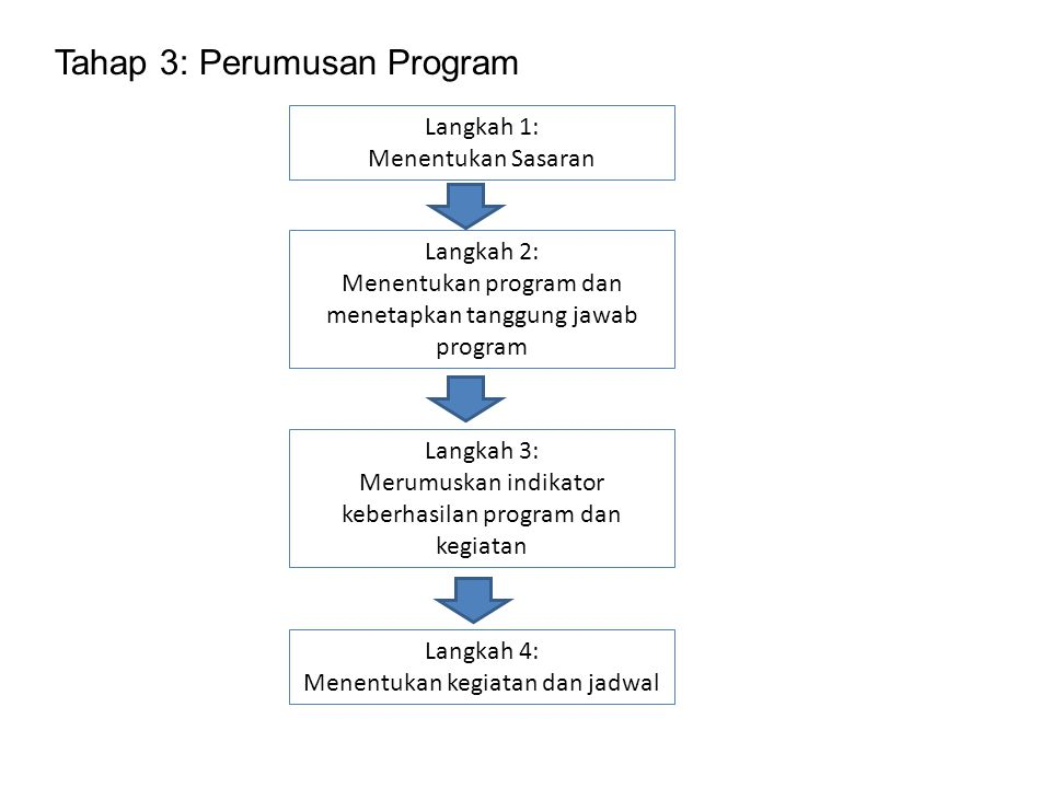 Tahap 3: Perumusan Program
