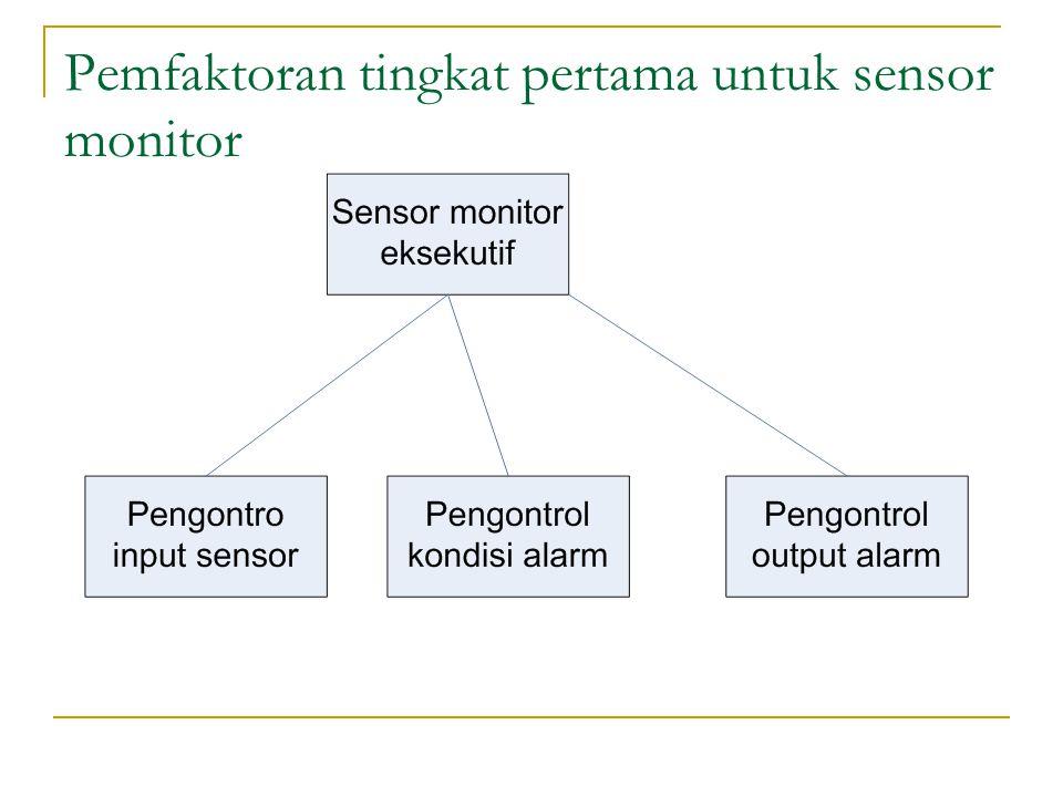 Pemfaktoran tingkat pertama untuk sensor monitor
