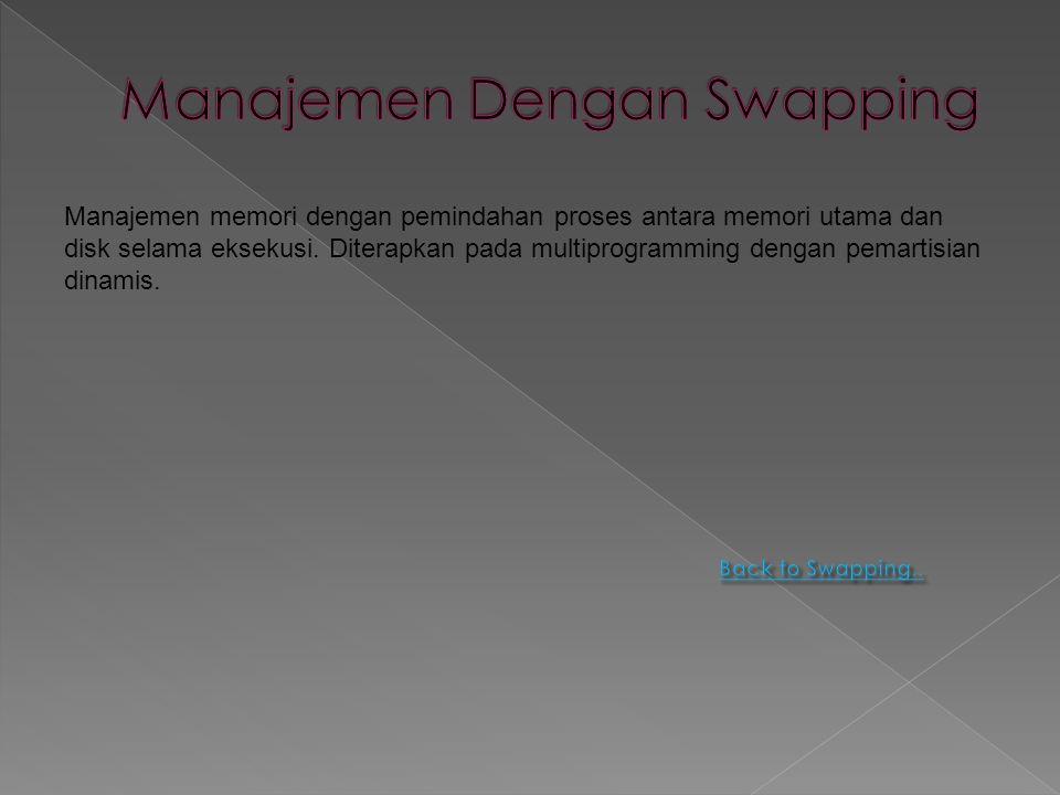 Manajemen Dengan Swapping
