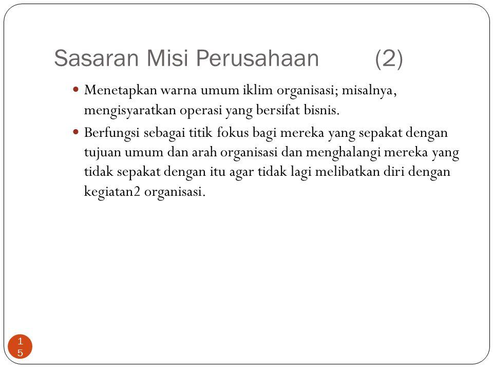 Sasaran Misi Perusahaan (2)