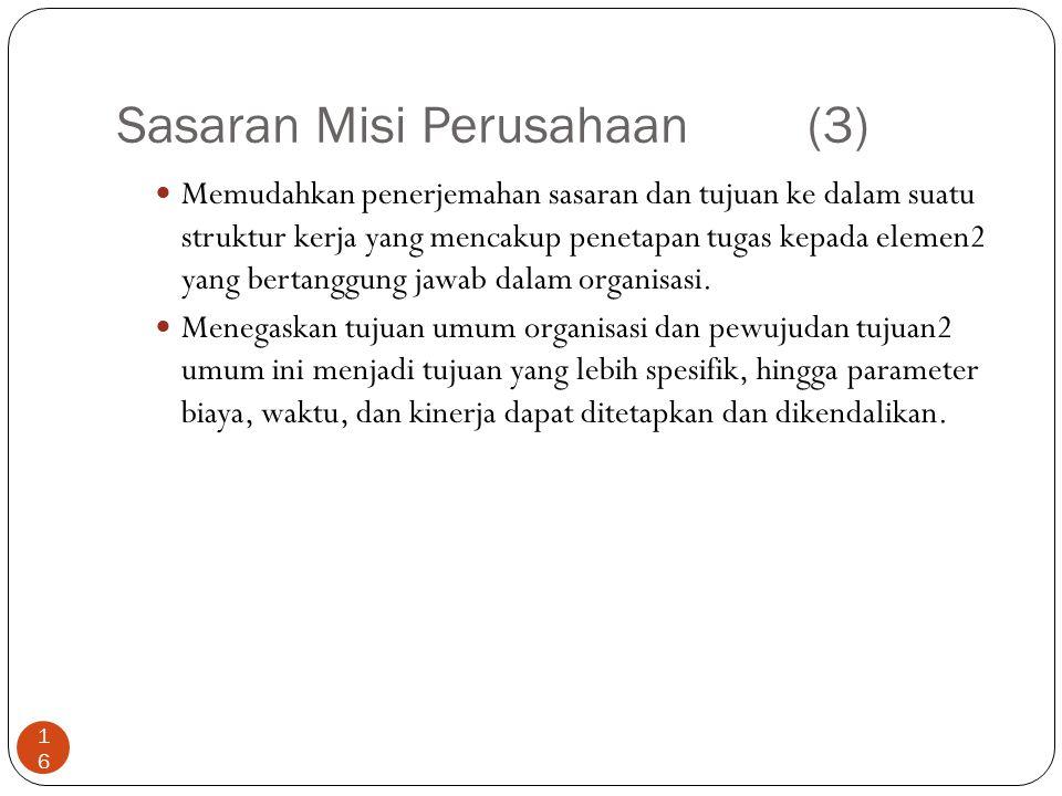 Sasaran Misi Perusahaan (3)