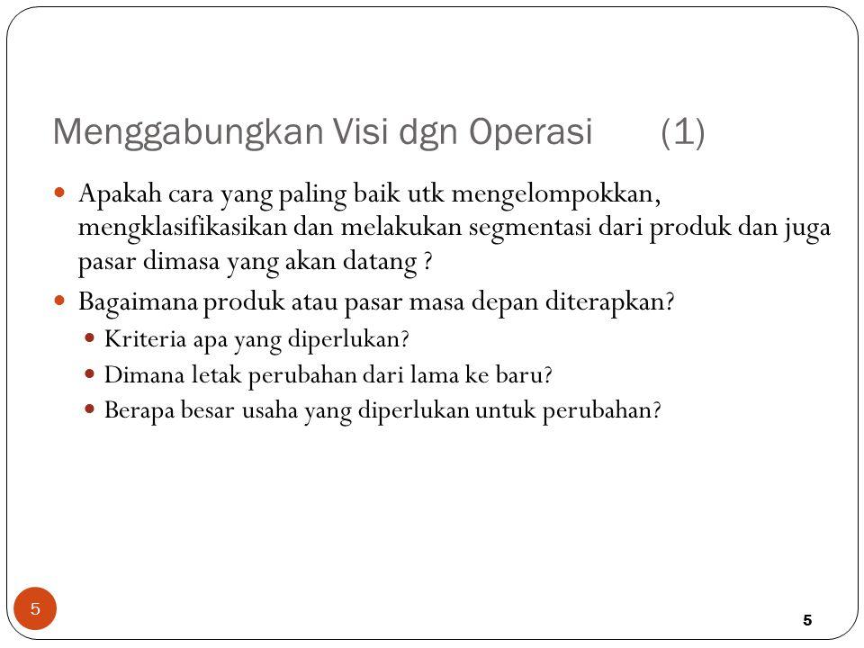 Menggabungkan Visi dgn Operasi (1)
