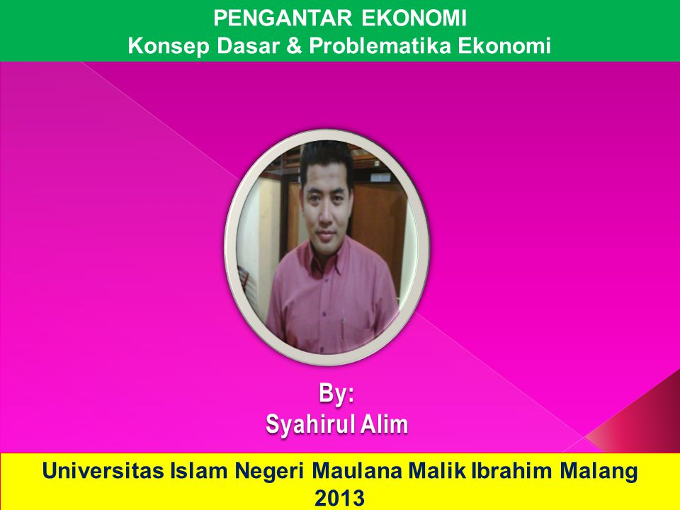 By: Syahirul Alim PENGANTAR EKONOMI