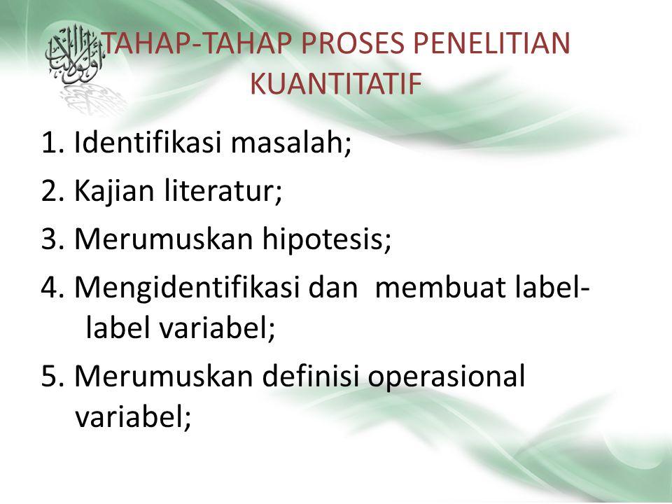 TAHAP-TAHAP PROSES PENELITIAN KUANTITATIF