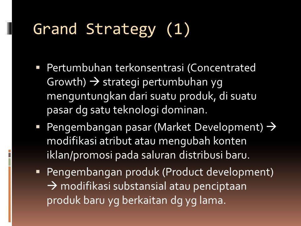 Grand Strategy (1)