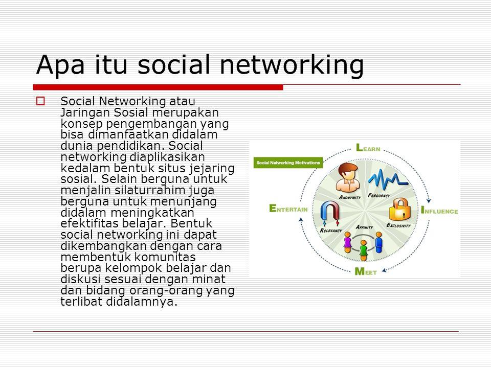 Apa itu social networking