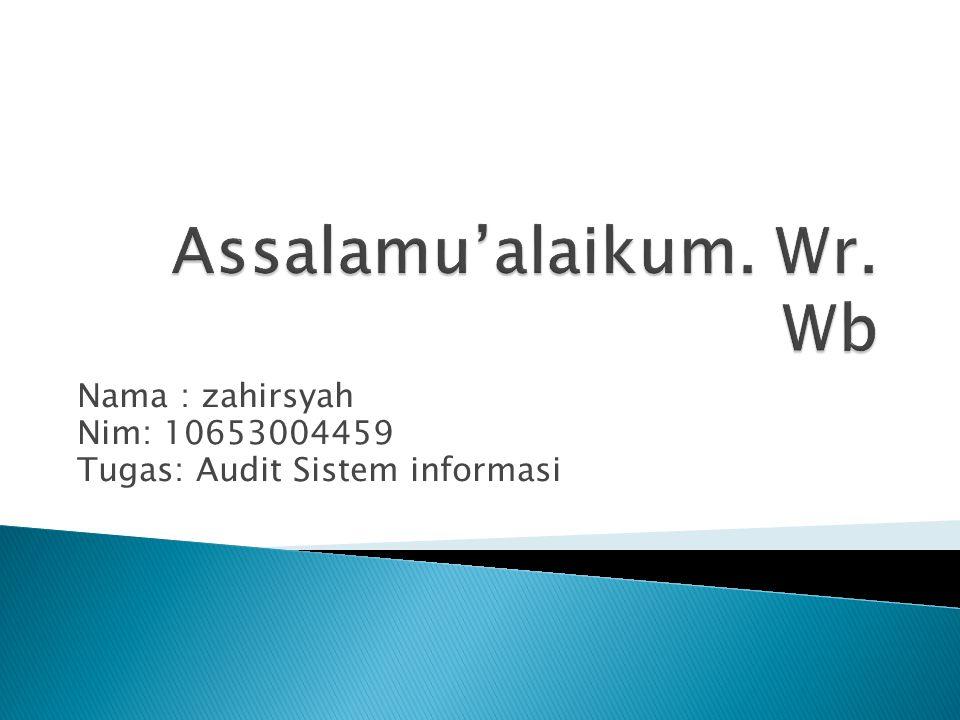 Assalamu'alaikum. Wr. Wb