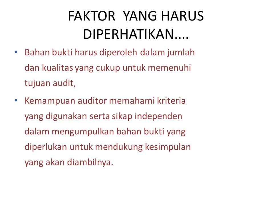 FAKTOR YANG HARUS DIPERHATIKAN....