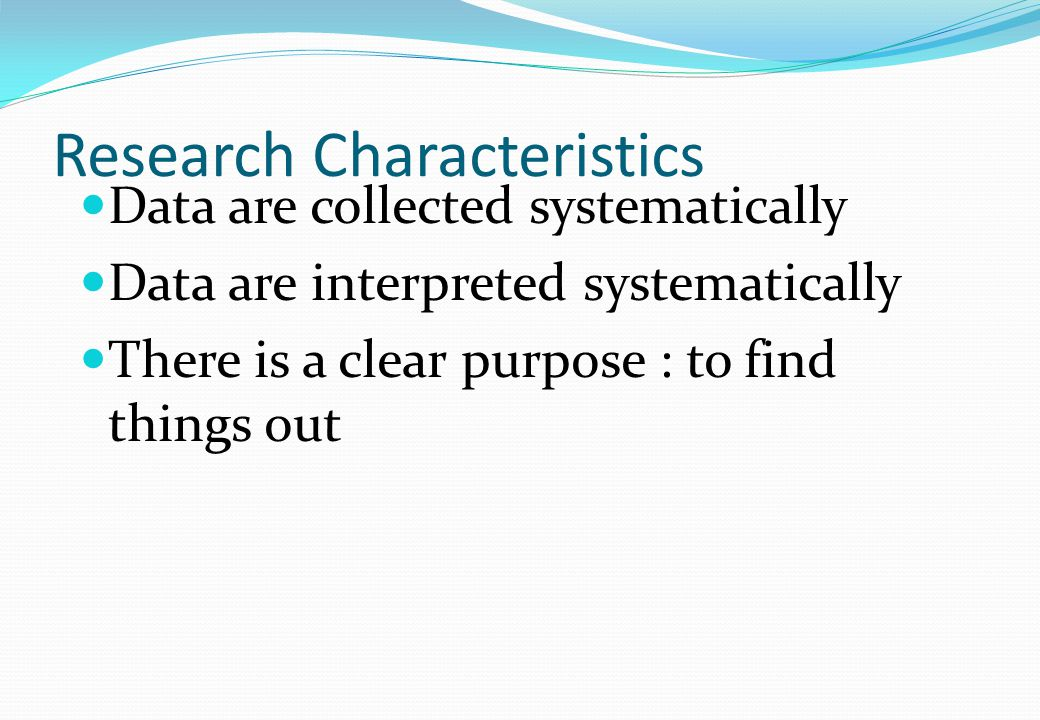 Research Characteristics