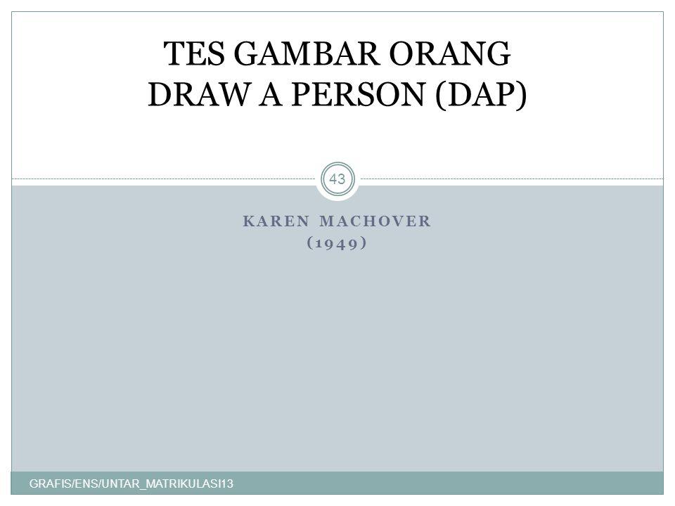 TES GAMBAR ORANG DRAW A PERSON (DAP)