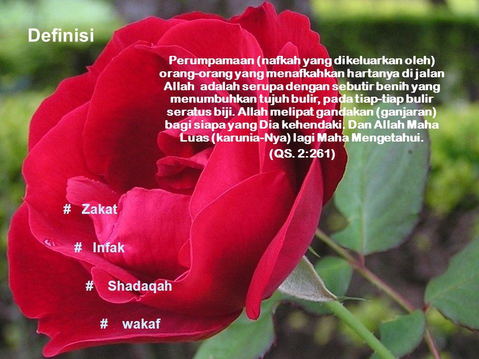 Definisi # Zakat # Infak # Shadaqah # wakaf