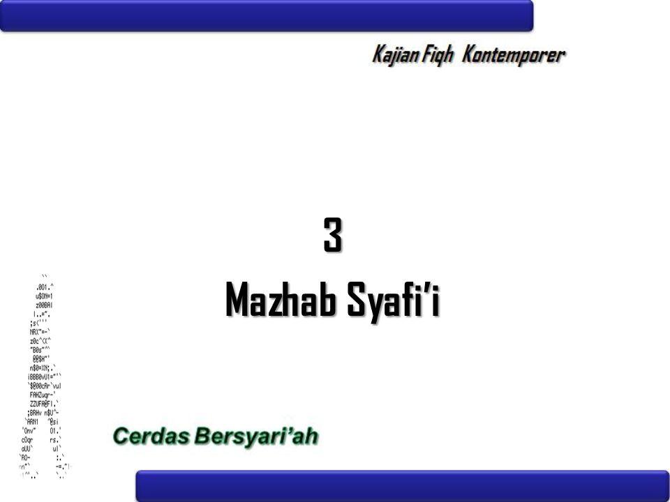 3 Mazhab Syafi'i