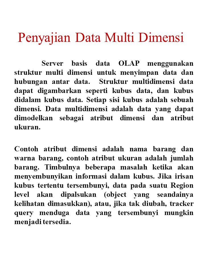 Penyajian Data Multi Dimensi