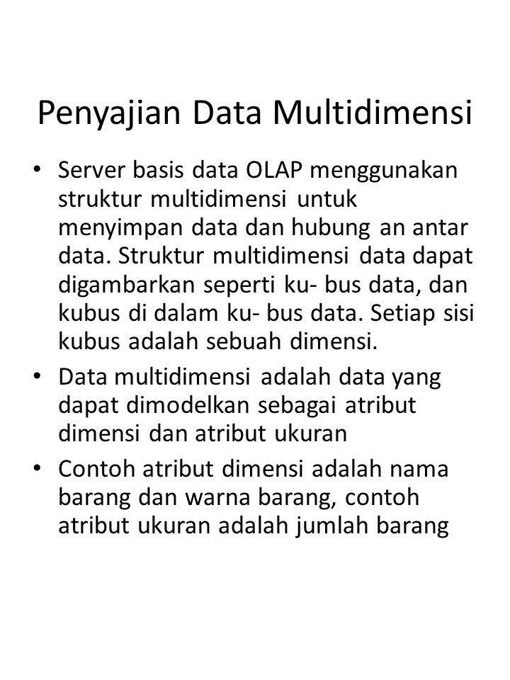 Penyajian Data Multidimensi