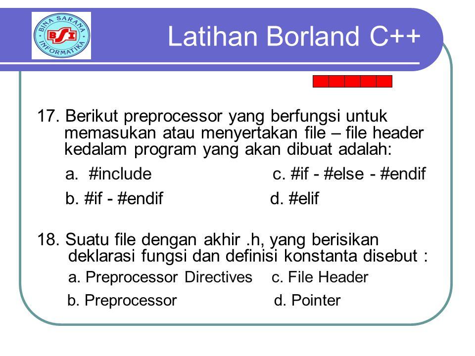 Latihan Borland C++