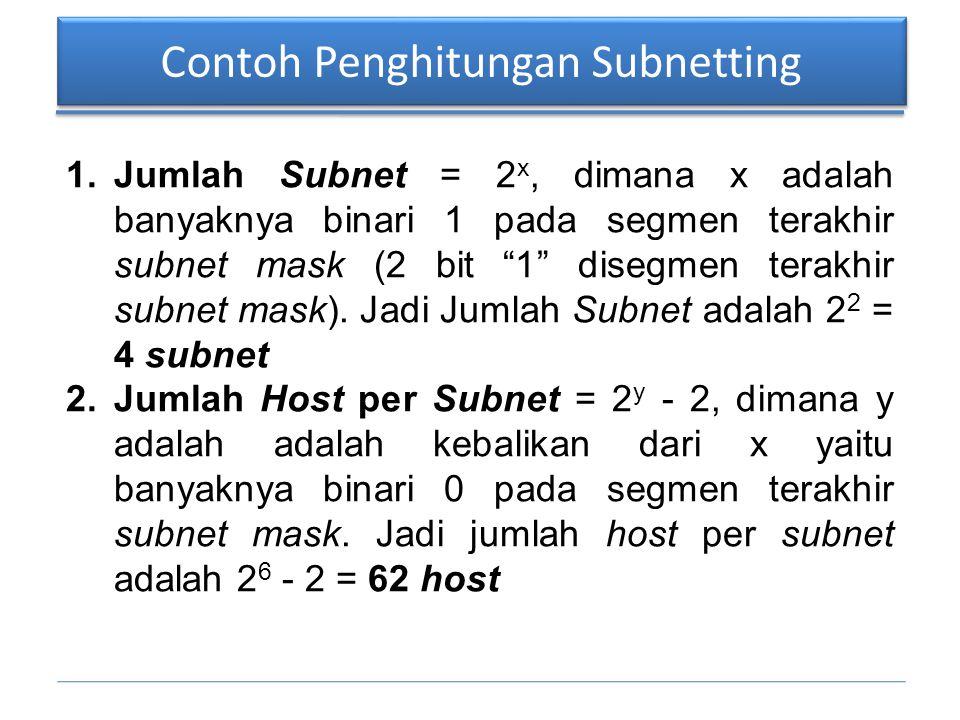 Contoh Penghitungan Subnetting
